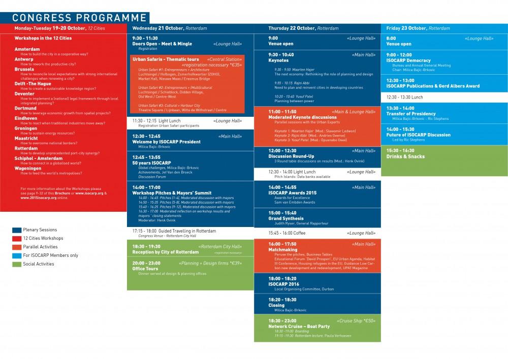 Programme timetable 51st isocarp congress isocarp for Tekerala org time table 2015