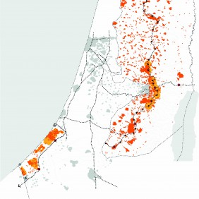 UPAT M West Bank_Connecting Palestinian cities and citizens_p41_map urban connectivity