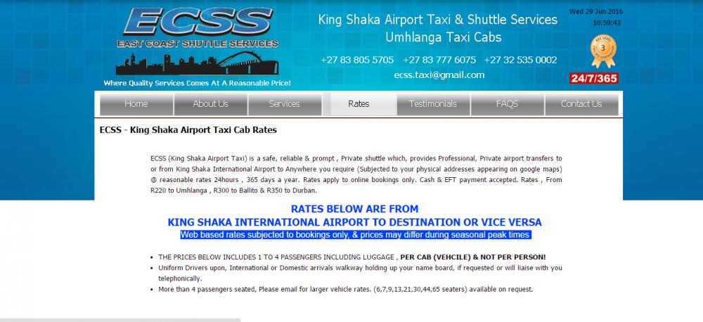 ECSS King Shaka Airpot Taxi Cab